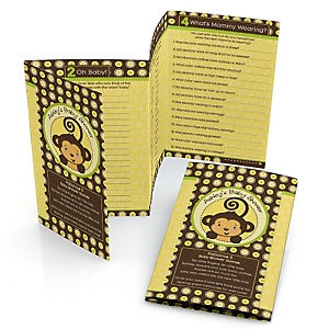 Monkey Neutral - Personalized Baby Shower Fabulous 5 Games