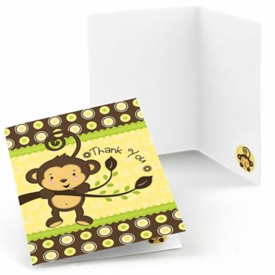 Monkey Neutral   Baby Shower Thank You Cards   8 Ct
