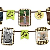 Monkey Neutral - Baby Shower Photo Garland Banners