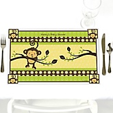 Monkey Neutral - Personalized Baby Shower Placemats