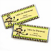 Monkey Neutral - Personalized Birthday Party Candy Bar Wrapper Favors