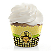 Monkey Neutral - Birthday Party Cupcake Wrappers & Decorations
