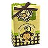 Monkey Neutral - Personalized Birthday Party Favor Boxes