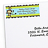 Blue Monkey Boy - Personalized Baby Shower Return Address Labels - 30 ct