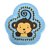 Blue Monkey Boy - Baby Shower Dessert Plates - 8 ct