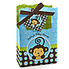 Blue Monkey Boy - Personalized Baby Shower Favor Boxes