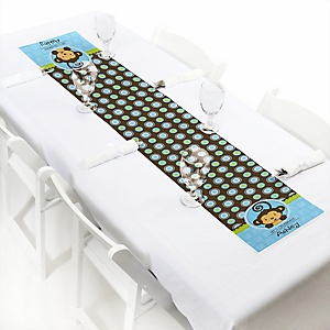 Blue Monkey Boy - Personalized Party Petite Table Runner