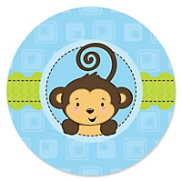 Blue monkey boy personalized baby shower invitations other monkey boy products you may like filmwisefo Image collections