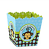 Blue Monkey Boy - Personalized Birthday Party Candy Boxes
