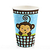 Blue Monkey Boy - Birthday Party Hot/Cold Cups - 8 ct