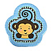 Blue Monkey Boy - Birthday Party Dessert Plates - 8 ct