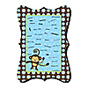 Monkey Boy - Unique Alternative Guest Book - Baby Shower or Birthday Party Signature Mat