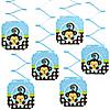 Blue Monkey Boy - Birthday Party Hanging Decorations - 6 ct