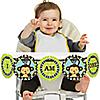 Blue Monkey Boy - 1st Birthday - I Am One - First Birthday High Chair Banner