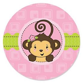 Monkey Girl - Baby Shower Theme