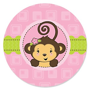 Monkey Girl - Baby Shower Theme