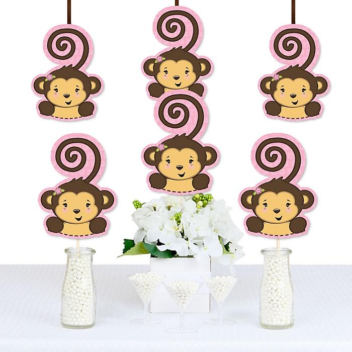 Monkey Girl - Monkey Decorations DIY Baby Shower or Birthday Party Essentials - Set of 20