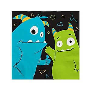 Monster Bash - Little Monster Birthday Party or Baby Shower Cocktail Beverage Napkins - 16 ct