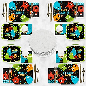 Monster Bash - Little Monster Party Tableware