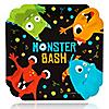 Monster Bash - Little Monster Birthday Party or Baby Shower Dinner Plates - 16 ct