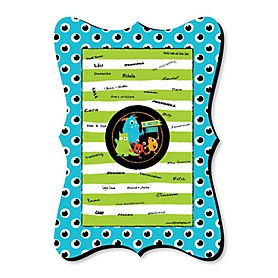 Monster Bash - Unique Alternative Guest Book - Little Monster Birthday Party or Baby Shower Signature Mat