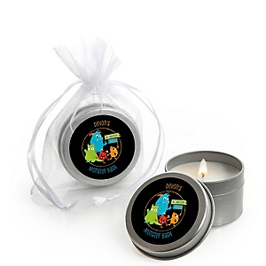 Monster Bash - Personalized Little Monster Birthday Party or Baby Shower Candle Tin Favors - Set of 12