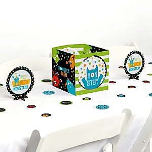 Monster Bash - Little Monster Birthday Party or Baby Shower Centerpiece and Table Decoration Kit