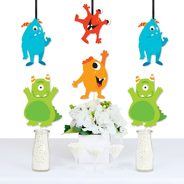 Monster Bash - Decorations DIY Little Monster Birthday Party or Baby Shower Essentials - Set of 20
