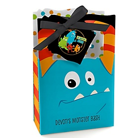 Monster Bash - Personalized Little Monster Birthday Party or Baby Shower Favor Boxes - Set of 12