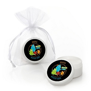 Monster Bash - Personalized Little Monster Birthday Party or Baby Shower Lip Balm Favors - Set of 12