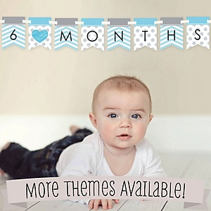 Month by Month Photo Banner for Baby's First Year - Monthly Photo Prop