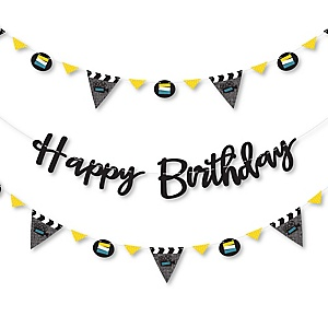 Movie - Hollywood Birthday Party Letter Banner Decoration - 36 Banner Cutouts and Happy Birthday Banner Letters