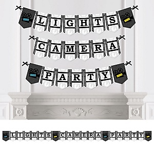 A film in the making graduation theme bigdotofhappiness movie personalized hollywood party bunting banner decorations solutioingenieria Image collections