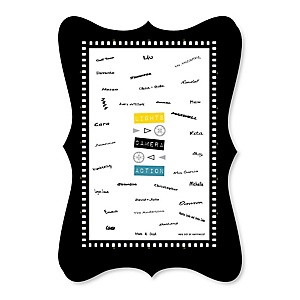 Movie - Unique Alternative Guest Book - Hollywood Party Signature Mat