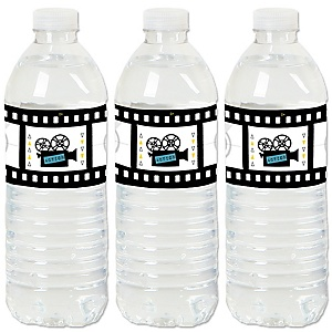 Movie - Hollywood Party Water Bottle Sticker Labels - Set of 20