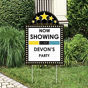 Movie - Party Decorations - Hollywood Party Personalized Welcome Yard Sign