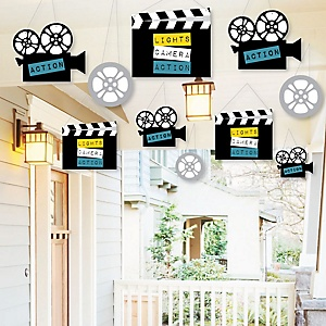 Hanging Movie - Outdoor Hollywood Party Hanging Porch and Tree Yard Decorations - 10 Pieces