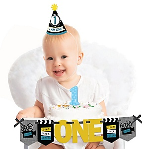 Movie 1st Birthday - First Birthday Girl Smash Cake Decorating Kit - High Chair Decorations