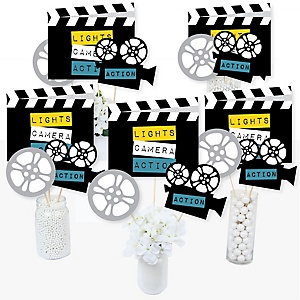 Movie - Hollywood Party Centerpiece Sticks - Table Toppers - Set of 15