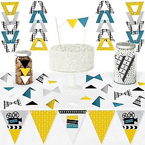 Movie - DIY Pennant Banner Decorations - Hollywood Party Triangle Kit - 99 Pieces