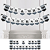 Mr. & Mrs. - Silver - Personalized Wedding Bunting Banner & Decorations