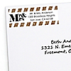Mr. & Mrs. - Gold - Personalized Wedding Return Address Labels - 30 ct