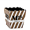 Mr. & Mrs. - Gold - Party Mini Favor Boxes - Personalized Wedding Treat Candy Boxes - Set of 12
