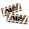 Mr. & Mrs. - Gold - Personalized Candy Bar Wrappers Wedding Favors - Set of 24
