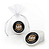 Mr. & Mrs. - Gold - Personalized Wedding Lip Balm Favors - Set of 12