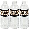 Mr. & Mrs. - Gold - Wedding or Bridal Shower Water Bottle Sticker Labels - Set of 20