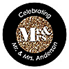 Mr. & Mrs. - Gold - Personalized Wedding Sticker Labels - 24 ct