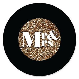 Mr. & Mrs. - Gold - Wedding Theme