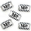 Mr. & Mrs. - Silver - Mini Candy Bar Wrapper Stickers - Wedding or Bridal Shower Small Favors - 40 Count