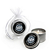 Mr. & Mrs. - Silver - Personalized Wedding Candle Tin Favors - Set of 12